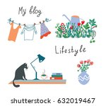 blog or lifestyle design... | Shutterstock .eps vector #632019467