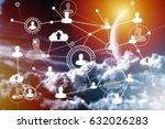 social networking technologies...   Shutterstock . vector #632026283