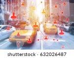 social networking technologies...   Shutterstock . vector #632026487