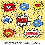 comic speech bubbles in pop art ...   Shutterstock .eps vector #632026517