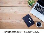 office desk table with pen ...   Shutterstock . vector #632040227