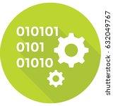 binary code vector icon   Shutterstock .eps vector #632049767