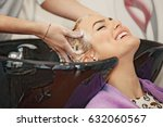 young beautiful blonde woman... | Shutterstock . vector #632060567