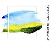 watercolor landscape ... | Shutterstock .eps vector #632063153