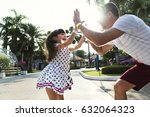 family father daughter... | Shutterstock . vector #632064323