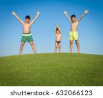 happy summer vacation for kids... | Shutterstock . vector #632066123