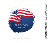 flag day in the united states ... | Shutterstock .eps vector #632090363