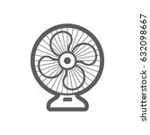 ventilator outline vector icon. ... | Shutterstock .eps vector #632098667