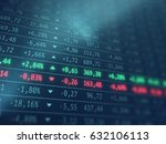 stock exchange screen  ... | Shutterstock . vector #632106113