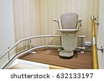 automatic stair lift on a... | Shutterstock . vector #632133197
