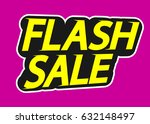 flash sale  isolated sticker ... | Shutterstock .eps vector #632148497