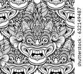 barong. traditional ritual... | Shutterstock .eps vector #632149487