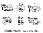 happy father's day banner and... | Shutterstock .eps vector #632149607