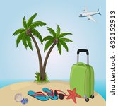 happy vacation | Shutterstock .eps vector #632152913