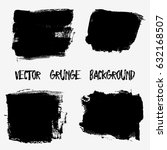 set of black paint  ink brush... | Shutterstock .eps vector #632168507