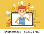 stock vector illustration man... | Shutterstock .eps vector #632171783