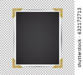 vector instant photo frame with ... | Shutterstock .eps vector #632172713