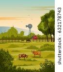 vector illustration of rural...   Shutterstock .eps vector #632178743