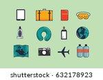 travel essentials vector... | Shutterstock .eps vector #632178923