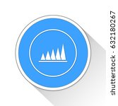 peak value button icon business ... | Shutterstock . vector #632180267