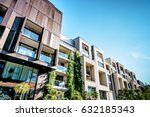 Stock photo modern residential architecture in berlin in summer 632185343