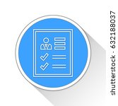 page report button icon... | Shutterstock . vector #632188037