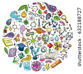 science illustration with... | Shutterstock .eps vector #632188727