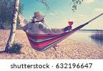 enjoy summer time at the beach  ...   Shutterstock . vector #632196647