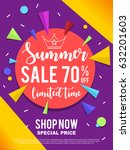 sale banner on colorful... | Shutterstock .eps vector #632201603