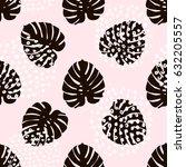 palm branch trendy seamless... | Shutterstock .eps vector #632205557