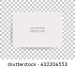 a4 sized mockup of a landscape... | Shutterstock .eps vector #632206553