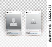 social network photo frame... | Shutterstock .eps vector #632226293