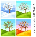 Four Seasons. Illustration Of...