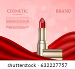 fashion cosmetic lipstick ads... | Shutterstock .eps vector #632227757