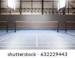 empty badminton court with spot ... | Shutterstock . vector #632229443
