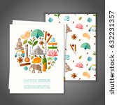 cards with national symbols of... | Shutterstock .eps vector #632231357