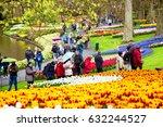 keukenhof  netherlands   april  ... | Shutterstock . vector #632244527