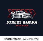 sport car logo illustration on...   Shutterstock . vector #632248793