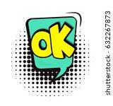 cartoon  comic speech bubble in ... | Shutterstock .eps vector #632267873