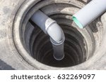 sewerage system. drain pit from ... | Shutterstock . vector #632269097