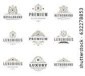 luxury monogram logos templates ... | Shutterstock .eps vector #632278853