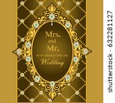 vintage invitation and wedding... | Shutterstock .eps vector #632281127
