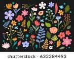 flowers illustration  vector ... | Shutterstock .eps vector #632284493