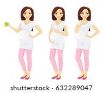 woman pregnant standing in... | Shutterstock .eps vector #632289047