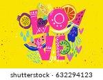 vector hand drawn illustration... | Shutterstock .eps vector #632294123