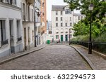 paris street in the montmartre... | Shutterstock . vector #632294573