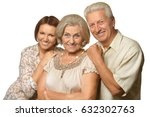 elderly parents and their adult ... | Shutterstock . vector #632302763