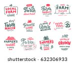 Farm Icons Set. Natural ...