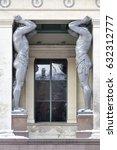 gigantic statues of the... | Shutterstock . vector #632312777