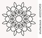 simple mandala shape for... | Shutterstock .eps vector #632315453